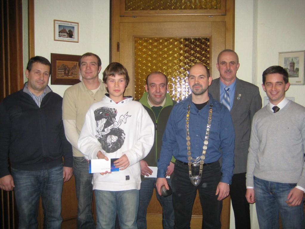 Von links: Hartmud Herbst, Jahn Götz, Yannik Bruder, Michael Link, Ralf Eckstein, Rainer Weisenburger, Christian Greilach